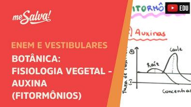 Me Salva! BOT30 - Fisiologia vegetal: Auxina (fitormônios)