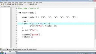 Programar em  C - Introdução Strings¦Vetores de Caracteres - Aula 46