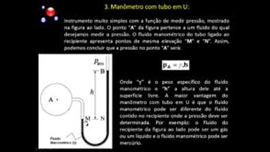 estatica dos fluidos  Manometria   Teoria   2ª Parte.avi