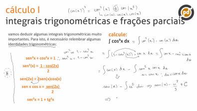 Integrais trigonométricas e frações parciais - Teoria (parte 1)