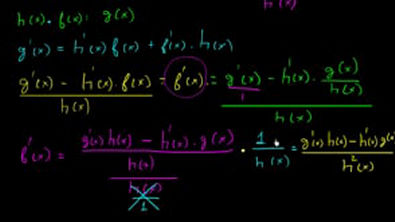 Demonstração e prova da regra do quociente (derivada)
