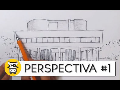 Tutorial de Desenho - Perspectiva #1 - Arquitetura