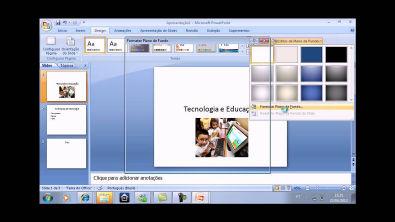 Como criar uma apresentação de slides.