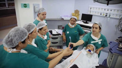Treinamento Equipe de Enfermagem do Centro Cirúrgico HEAB