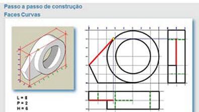 Vistas ortograficas - faces curvas