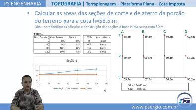 TOPOGRAFIA AGRIMENSURA TERRAPLENAGEM Corte e Aterro Cálculo dos Volumes para Cota Imposta