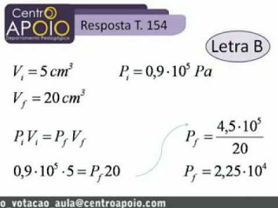 Física - Exercícios Resolvidos Estudo dos Gases e 1ª lei da Termodinâmica