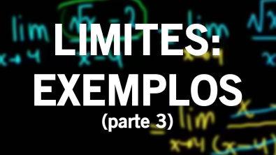 Limites - Exemplos (parte 3)