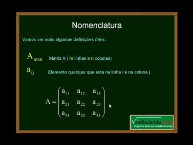 Matemática - Aula 19 - Matrizes - Conceitos Iniciais - Parte 1