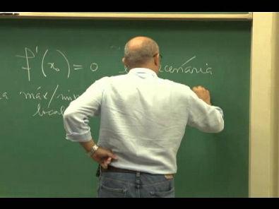 Cursos Unicamp: Cálculo 1 / aula 30 - Teorema do Valor Médio - parte 1