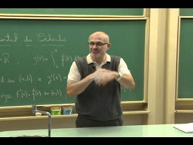 Cursos Unicamp: Cálculo 1 / aula 40 - Teorema Fundamental do Cálculo - parte 2