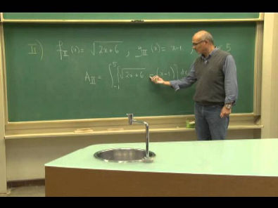 Cursos Unicamp: Cálculo 1 / aula 45 - Áreas entre curvas - parte 2