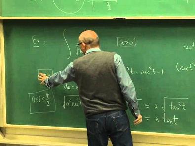 Cursos Unicamp: Cálculo 1 / aula 53 - Substituição Trigonométrica - parte 2