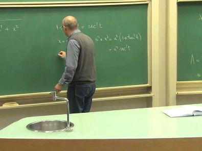 Cursos Unicamp: Cálculo 1 / aula 52 - Substituição Trigonométrica - parte 1
