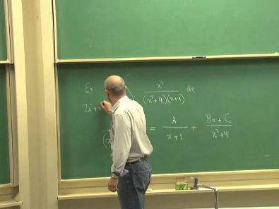 Cursos Unicamp: Cálculo 1 / aula 55 - Funções Racionais / Frações Parciais - parte 2