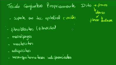 Tecido Conjuntivo Propriamente Dito - Aula 1