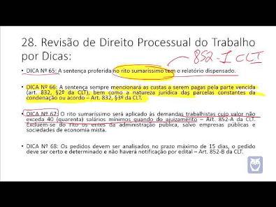 Revisão de Direito Processual do Trabalho - Parte 6/10 - Bruno Klippel