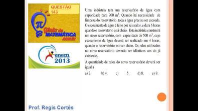 Questão 143  Prova comentada ENEM 2013