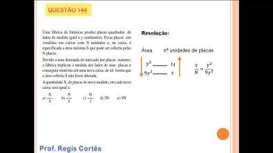 Questão 144  Prova comentada ENEM 2013