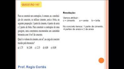 Questão 147 Prova comentada ENEM 2013