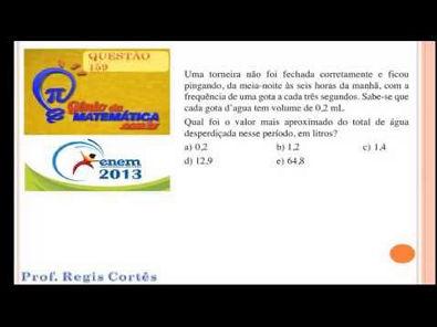 Questão 159 Prova comentada ENEM 2013