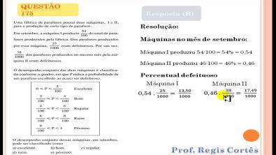 Questão 175 Prova comentada ENEM 2013
