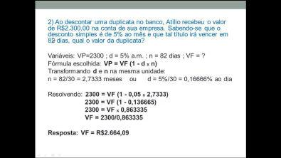 Aula 2 de Matemática Financeira: Desconto simples