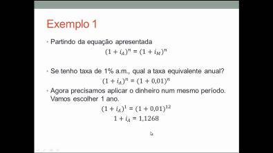Aula 4 - equivalência de taxas  (curso gratuito de Matemática Financeira)