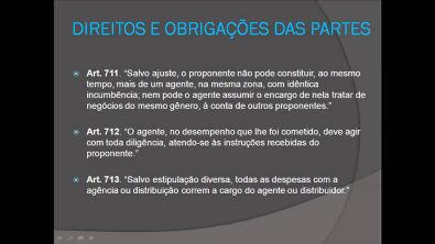 Contratos de Agência e Distribuição