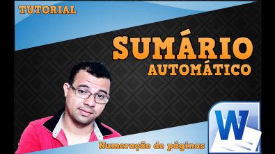 SUMÁRIO AUTOMÁTICO E PAGINAÇÃO NO WORD 2010