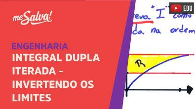 Integral Dupla iterada - Invertendo os limites de integração exemplo 1