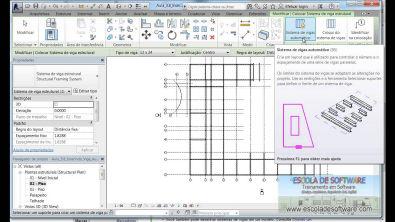 Curso Revit Structure 2014 - Aula 3.8 Inserir Sistemas de Vigas Automaticamente