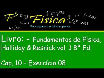 Cap 10 Ex 08 Resolvido Rotações Fund da Física Halliday   Resnck vol 1 Ed 8
