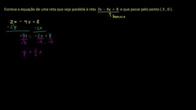 Equações de retas paralelas