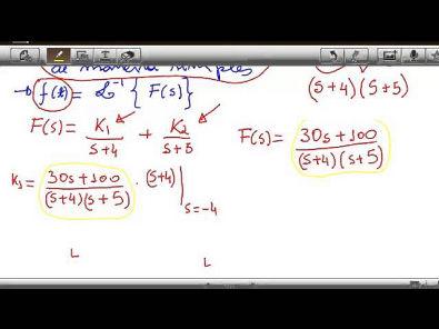 Transformada de Laplace - Expansão em Frações parciais -   Polos Simples(distintos)