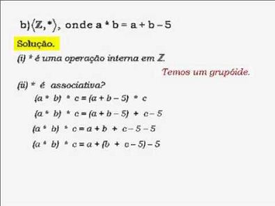 Álgebra I: Estrutura algébrica