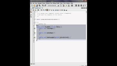 Básico da criação de uma aplicação MIDlet no Netbeans