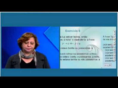 Aula revisão 06 à 10   Lógica Matemática