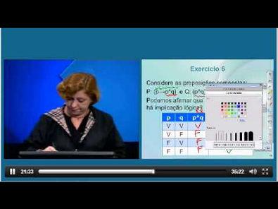 Aula Revisão de 1 a 5 Lógica Matemática