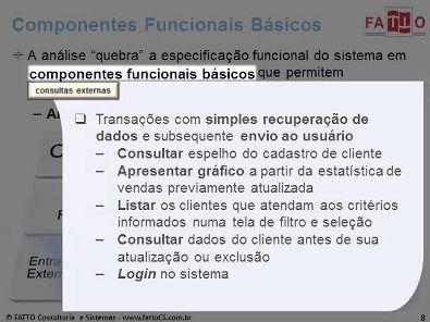 Decomposição dos Requisitos em Componentes Funcionais Básicos