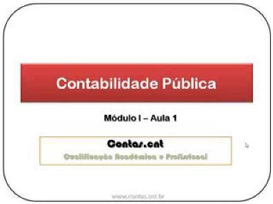Contabilidade Pública -  Módulo I - Aula 1