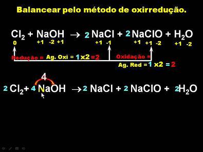 balanceamento de equações químicas por oxirredução