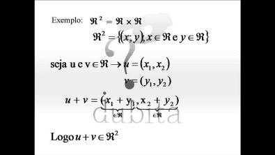Álgebra Linear - Aula 1 - Espaços Vetoriais - Equipe Dubita