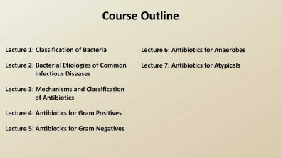 Antibiotics - A Course Introduction