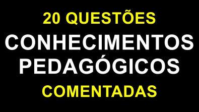Conhecimentos Pedagógicos - Questões Comentadas (20 QUESTÕES)