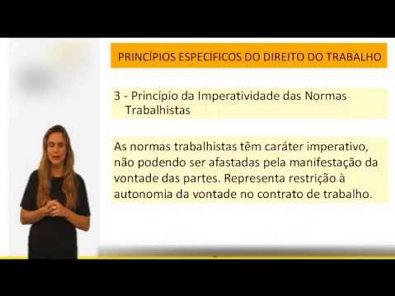Direito do Trabalho - Princípios Específicos - Parte 01 - Vídeo Aula Concurso 2014