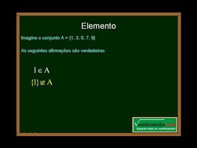 Matemática - Aula 1 - Conjuntos - Parte 1