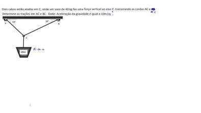 AULA 18 - equilíbrio estático - tração em cordas - diagrama de corpo livre