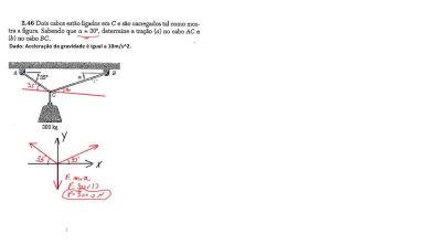 AULA 20 - equilíbrio estático - tração em cordas - diagrama de corpo livre