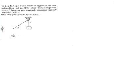 AULA 23 - equilíbrio estático - diagrama de corpo livre - estática